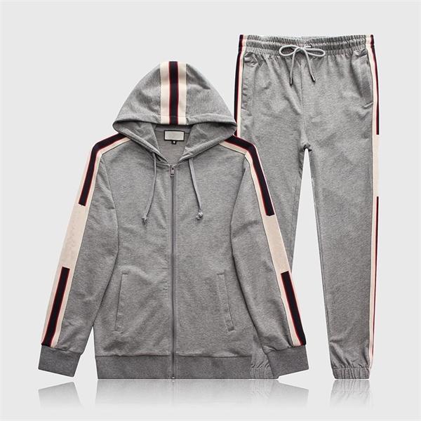 Fashion New Mens Designer Tracksuits Lettera Ricamo Stampa Esecuzione da uomo Maglione da uomo Suit Sportswear Vestito da uomo Giacca da uomo Giacca con cappuccio Casual