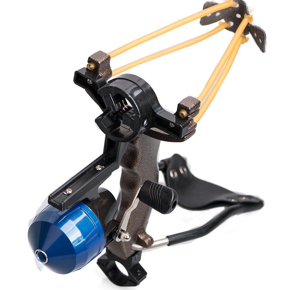 성인 강력한 대상 슈팅 슬링 샷 접는 손목 catapult 전문 사냥 낚시 slingshot slingshot ammo 물고기와 세트