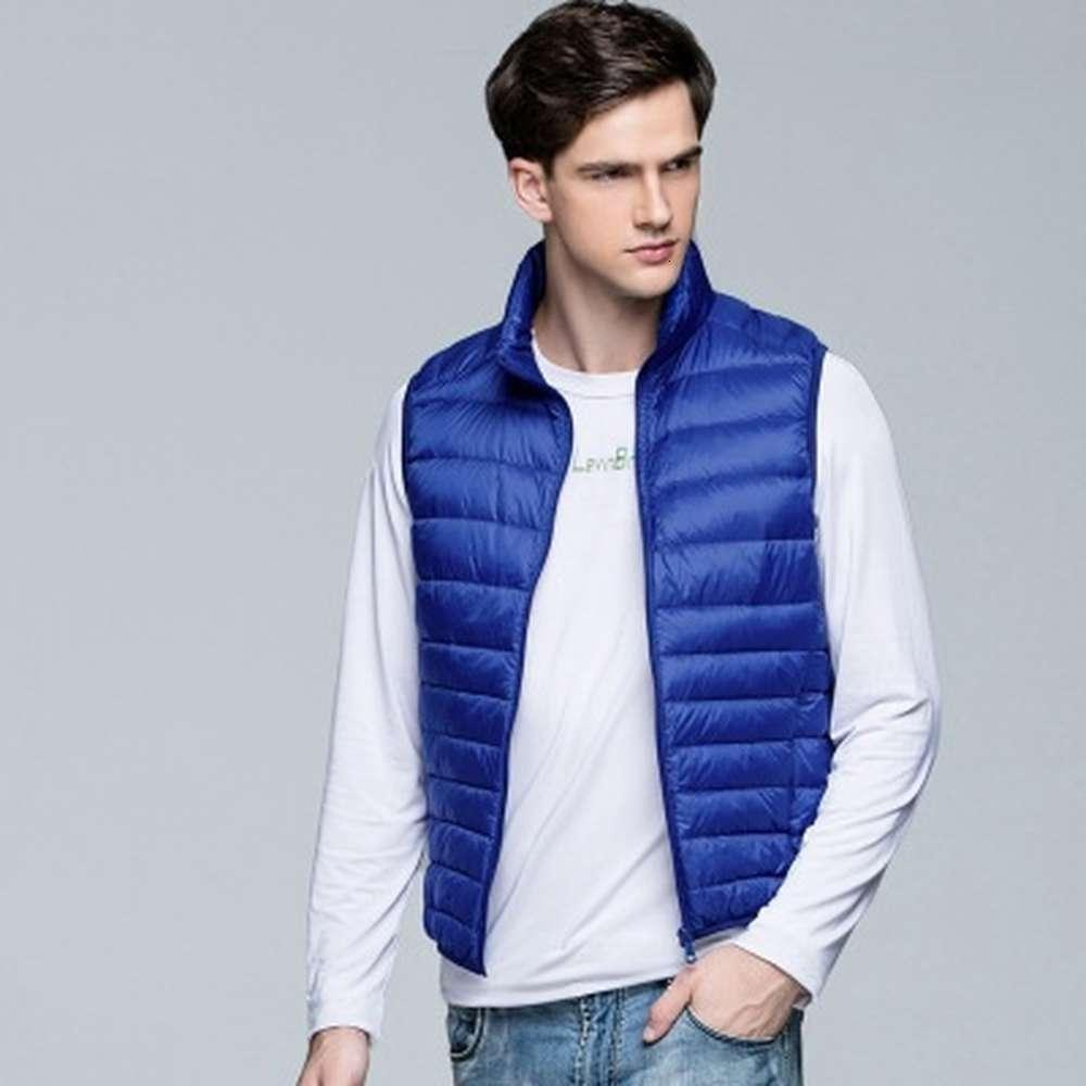 ZOGAA Winter Men Ultra Light Duck Down Vest Jacket Men's Cotton Warm Streetwear Vests Jackets Casual Short Sleeveless Waistcoat