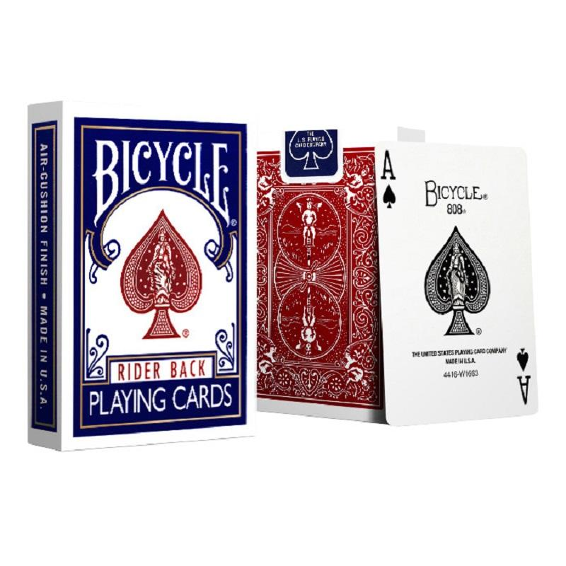 2 ШТ. / Установлен Велосипедный покер Blued Bicycle Magic Регулярные игральные карты Rider Back Стандартные палубы Волшебный трюк 808 Запечатанные колоды Коллекционная карта