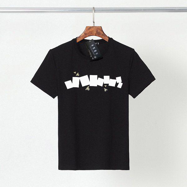 Moda T Shirt Yaz Adam Kadın Tshirt Sokak Giyim Mürettebat Boyun Kısa Kollu Lüks Tees 3 Renk En Kaliteli T-shirt Yaz T Gömlek