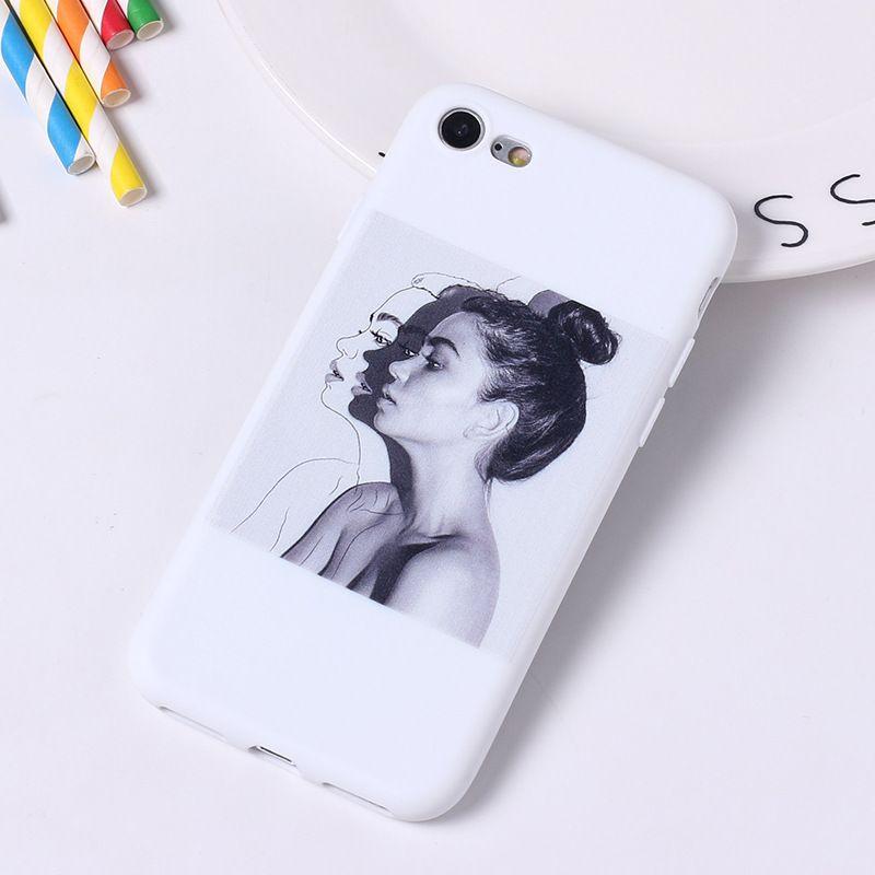 Para iPhone 11 Pro Max capa capa XR Funda iphone 7 8 6s mais x S SE 2020 Casos de telefone Padrão bonito matte suave silicone menina menina