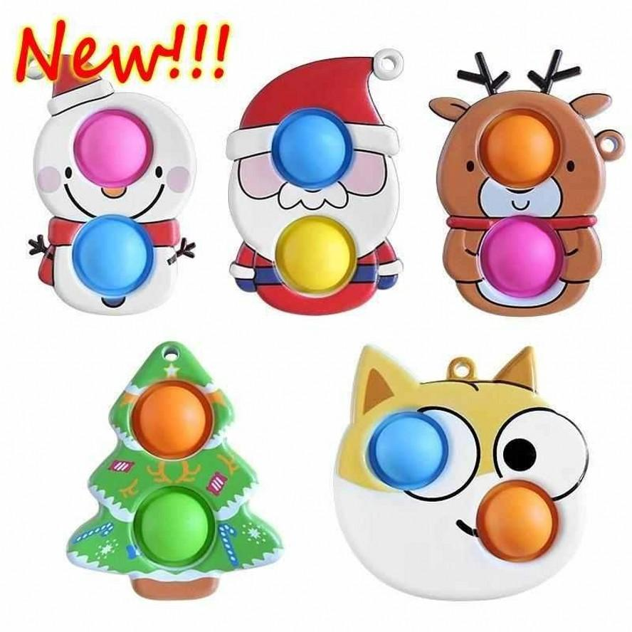 Fidget giocattoli sensoriale bolla giocattolo semplice dimezza antistess carino partito natale spinta per le mani spremi