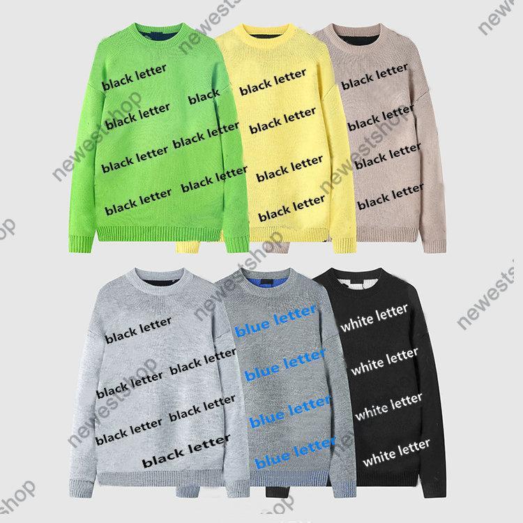 21SS Paris Mens Mujeres Color Imprimir Suéteres Color Clásico Carta de Impresión Suéter Casual Alta Calidad Moda Moda Designer Shirtss