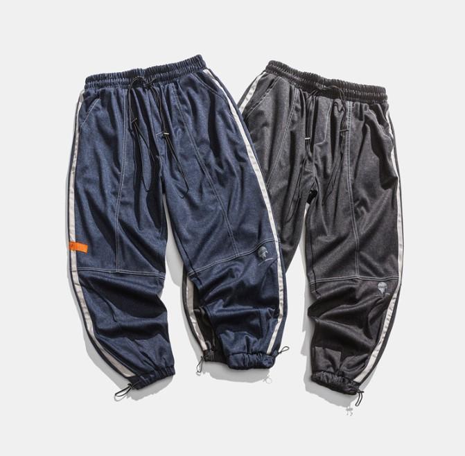 Vintage Casual erkek Pantolon Yeni Ticaret Yüksek Kalite Stree Giyim Tulum 2021 Yeni Ürün Ücretsiz Shpping