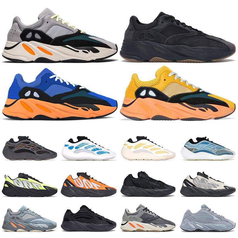 kanye west 700 scarpe da ginnastica da uomo scarpe da corsa marrone argilla Azael Alvah Sun Bright Blue Utility nero Vanta MNVN scarpe da ginnastica sportive da donna Orange Bone