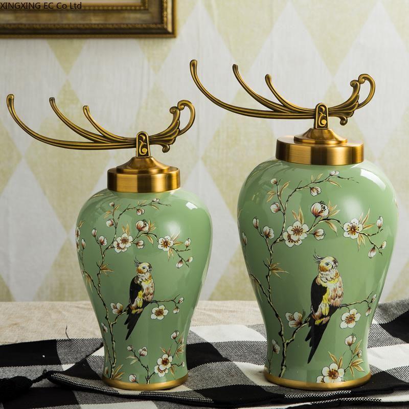 Vasen Keramik Storage Jar Desktop Dekoration Blume Arrangement Vase Europäische Wohnzimmer Home