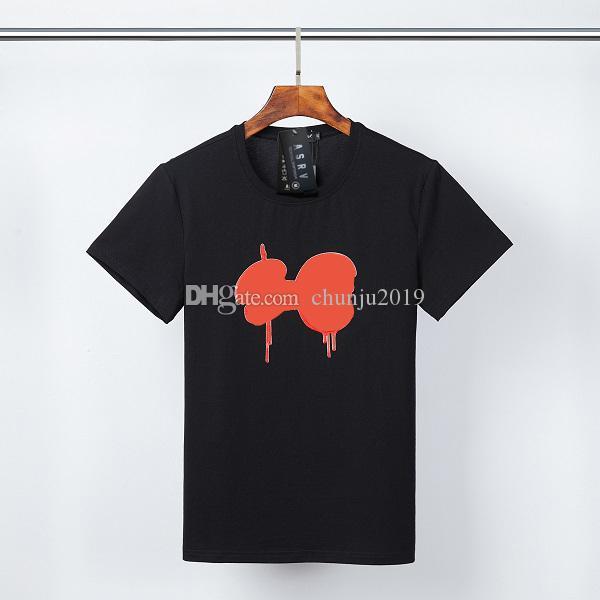 Erkek Tees Moda T-shirt Erkek Kadın Yaz T Shirt Mektup Desen Baskı T Gömlek Erkek Kısa Kollu Nefes Üstleri Kırmızı Boya