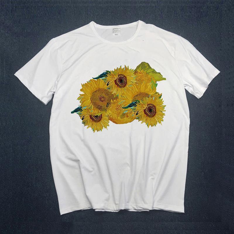 Mulheres Tshirt Manga Curta Margarida Floral Impressão Moda Meninas camisetas Senhoras Vintage Estética T-shirt das mulheres roupas