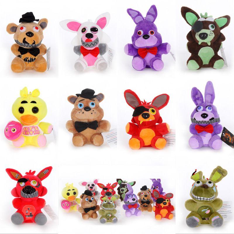 Jouets en peluche 15cm 25cm Cinq nuits à Freddy FNAF Poupées Farciées Jouets En Golden Freddy Fazbear Manggle Foxy Bear Bonnie Peluchon Animal Toys