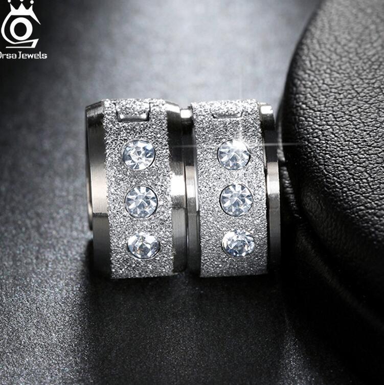 JEWELS Lead & Nickel Free Women Hoop Earrings Design Stainless Steel Ear Jewelry with Shiny ps1364