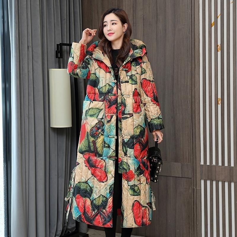 Новая зимняя куртка для коллекции стильный ветрозащитный женское пальто женские стеганые пальто куртки длинные теплые Parkas Tops 210203