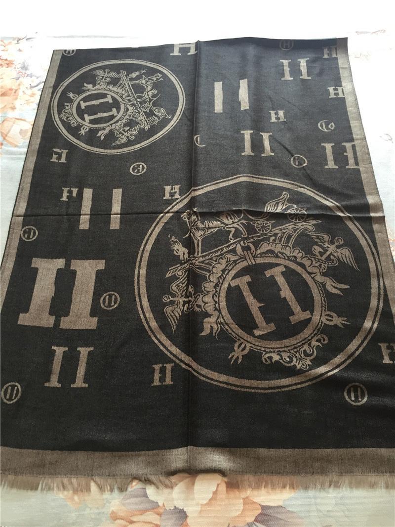 새로운 럭셔리 스카프 패션 클래식 소프트 코튼 원사 염색 스카프 유명한 디자이너 스카프 길이 180 * 70cm 목도리