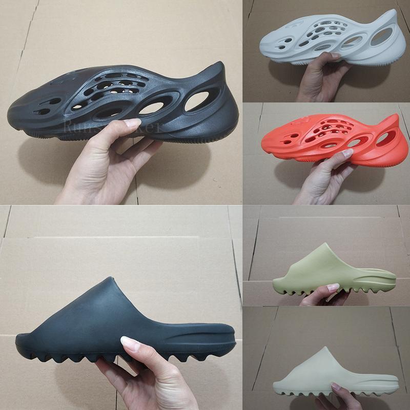 Горячие летние модные дизайнеры сандалии для мужчин Женские дома на открытом воздухе Слайды туфли с коробкой женщин сандалии резиновые флиппарки