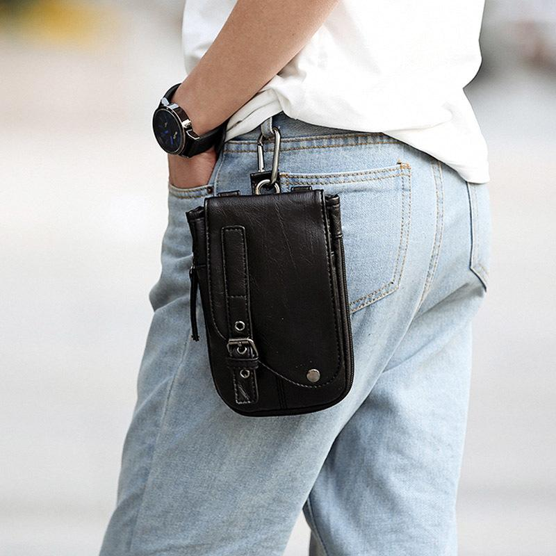 Fashion Summer Mobile Phone Waist Bag Men Fanny Pack Cigarette Pack Small Backpack Shoulder Crossbody Bag C121 C0305