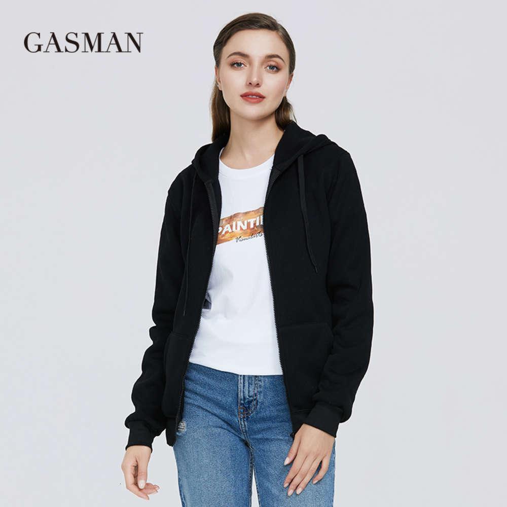 Gazman Giyim Rahat Katı kadın Hoodies Fermuar Uzun Kollu Kış Kadın Cep Kapüşonlu Tişörtü 2020