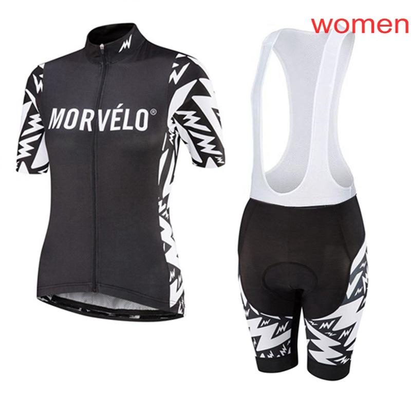 Kadın Morvelo Takım Bisiklet Jersey 2021 Kısa Kollu Bisiklet Giyim Yaz Tur De France Nefes MTB Bisiklet Spor Y21031005