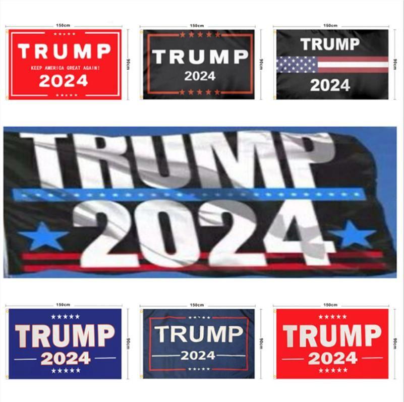 Em estoque Trump Flag 2024 Bandeira Eleitoral Bandeira Donald Trump Bandeira Mantenha a América Grande Novas Ivanka Trump Flags 150 * 90 cm 13 estilos