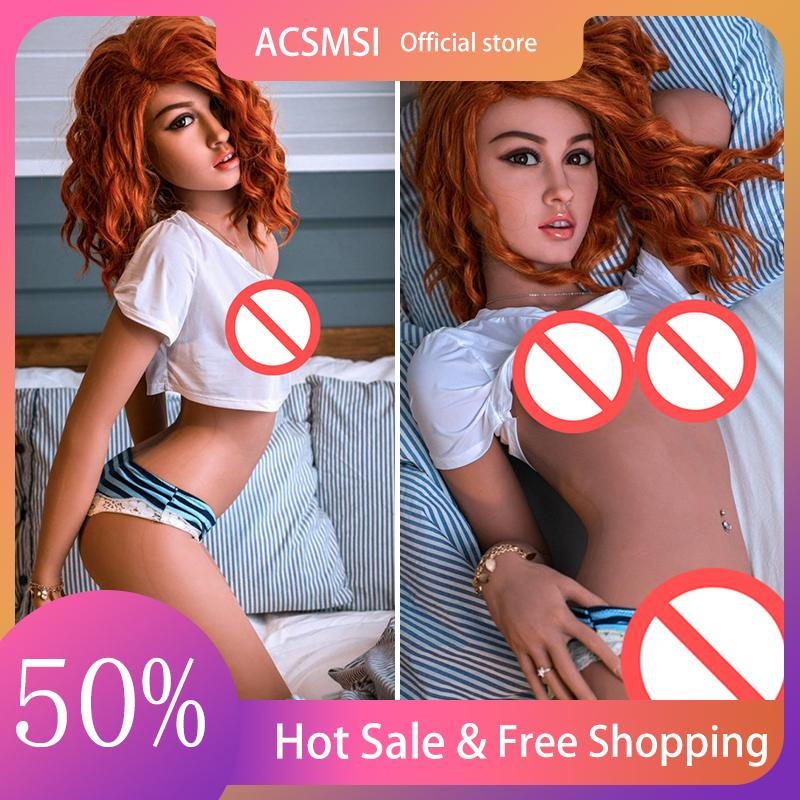 Acsmsi 실리콘 사랑 섹스 인형 158cm 리얼 l 현실적인 유방 질 엉덩이 음부 tpe 금속 해골 sexydolls 성인 자위 장난감