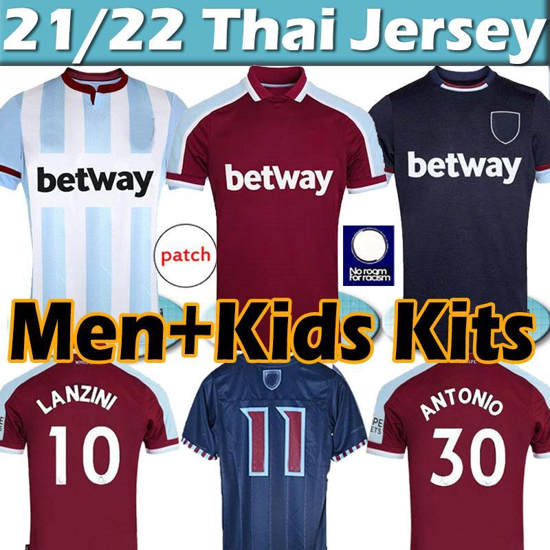 2021 2022 Westeisern Maiden X Lingard Ham Soserys Lanzini Haller Antonio Rice 125. Jubiläum Jersey 21/22 Männer Kids Kits Football Hemden Top