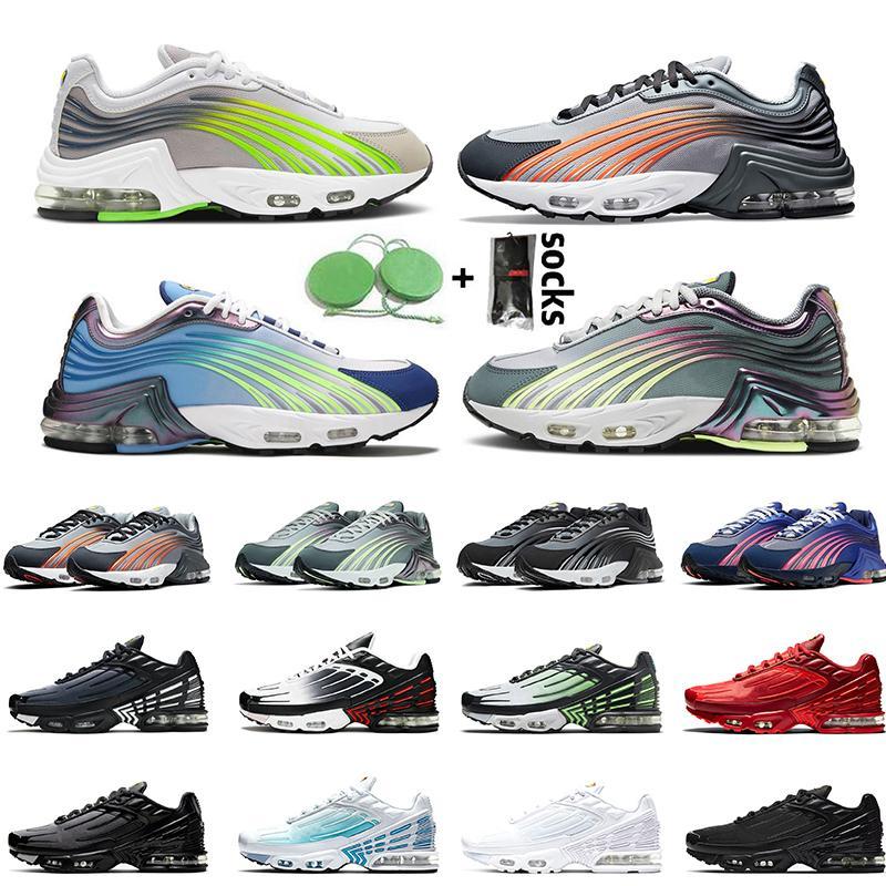 En Kaliteli Tn Plus 2 Tuned Koşu Ayakkabısı 2021 Derin Kraliyet Mavi Mor Sneakers Kolej Gri Elektrik Yeşil Siyah Yansıtıcı Gümüş Erkek Spor Ayakkabı
