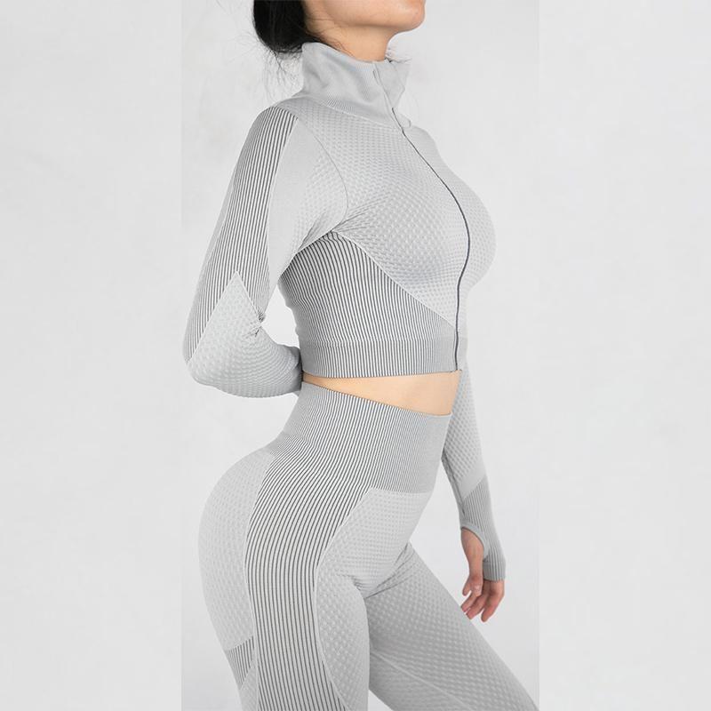 Ioga roupa as melhores leggings para fitness tracksuit seamless terno mulheres ternos esportivos tracksuits esporte coisas de academia dois pedaço conjunto