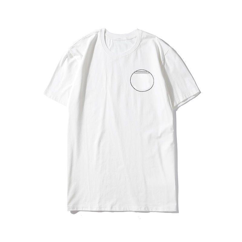 Модные стилисты мужские футболки Inlaid Beads Thirts 2021 мужчины женщины пары на высоте качества с коротким рукавом тройник