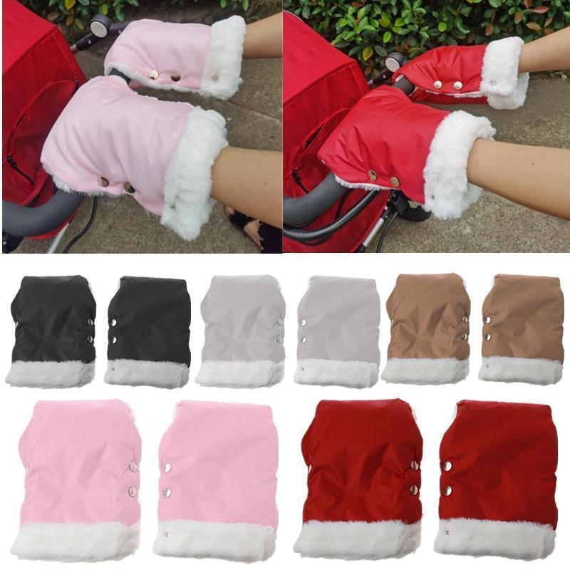 Stroller Parts & Accessories 1 Pair Born Baby Gloves Winter Warm Waterproof Mitten Pram Hand Muff Kids Mittens
