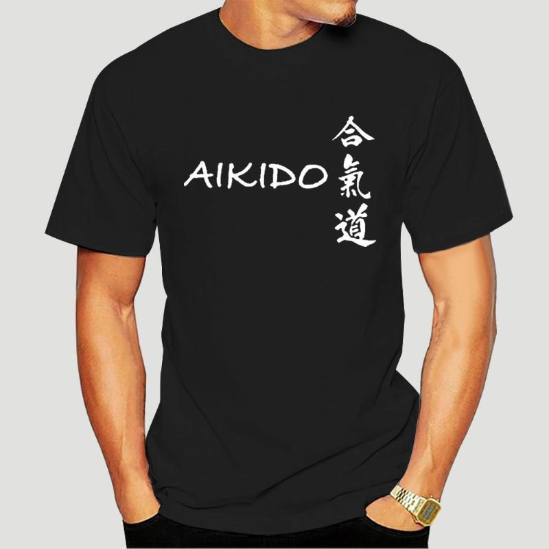 Camisetas para hombre Aikido Japanese Martial Art Fighting 2021 Verano Buena calidad Estilo de marca Impresión divertida T Shirts 5711A