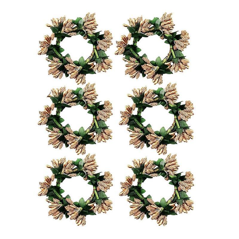 Anelli del tovagliolo anelli di corona, anello di fattoria, decorazione del tavolo del portafoglio della vite per il matrimonio, Natale