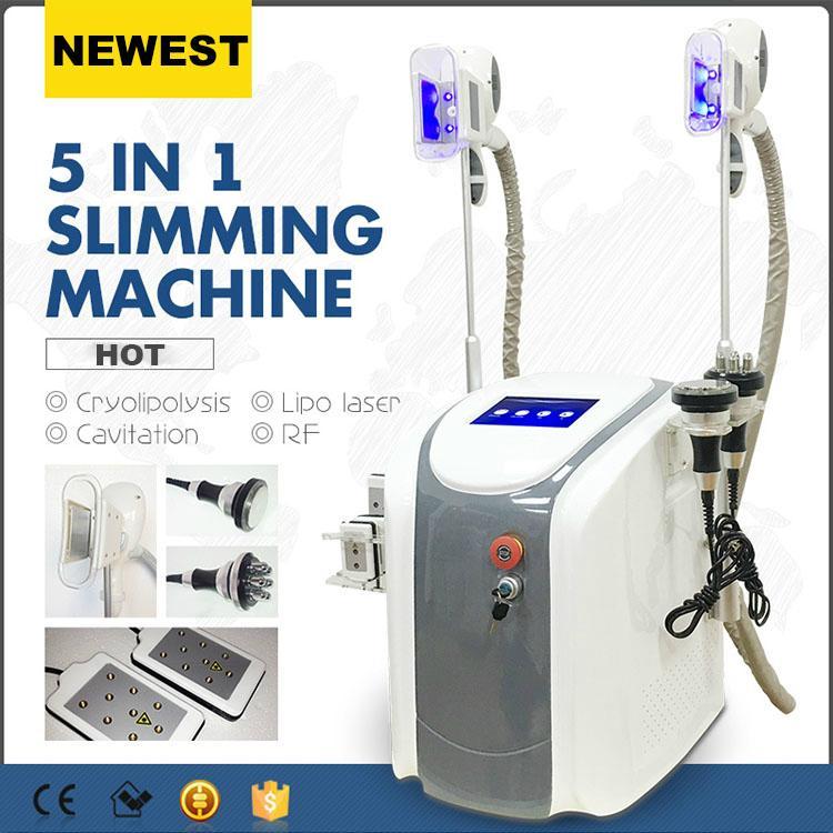 2020 profesyonel cryolipolysis yağ donma makinesi lipolaser kişisel kullanım kriyoterapi lipo lazer ultrasonik kavitasyon rf zayıflama makinesi