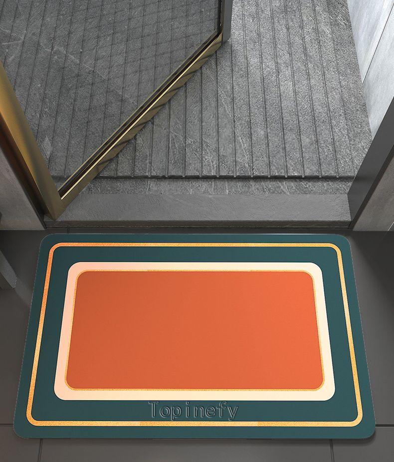 Topinefy Textile floor mats Foot mats, non-slip mats for kitchen and bathroom households