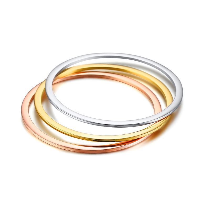 Браслет бесплатно 2 мм минимальный простой тонкий браслет из нержавеющей стали одиночной укладки повседневных украшений