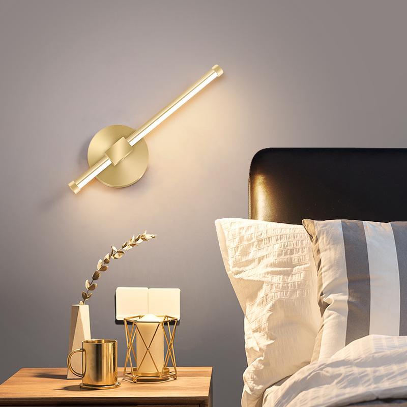 Banyo Başucu Duvar Lambası Moda Yatak Odası Işık Modern Oturma Odası Arka Plan Duvar Işık Nordic LED Koridor Dekoratif Lambalar Basit LED Işık