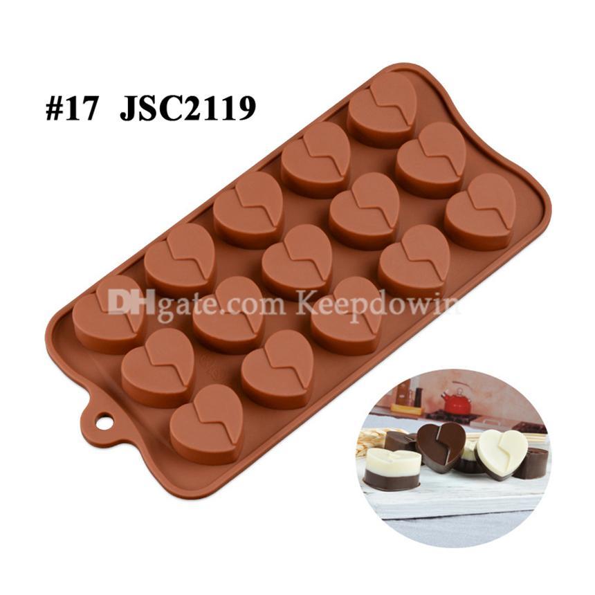 Çikolata Kalıpları Silikon Sıcak Kakao Bomba Kalp Kalıpları Çikolata Şeker Kalıpları Için Silikon Şekiller Festivali Düğün Partileri için Pişirme JSC2777
