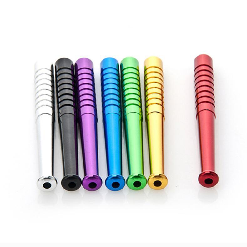 Spot Portable Autres accessoires fumeurs Creative Alliage d'aluminium Mini 78mm Petite Tuyau de métal de la torche de baseball