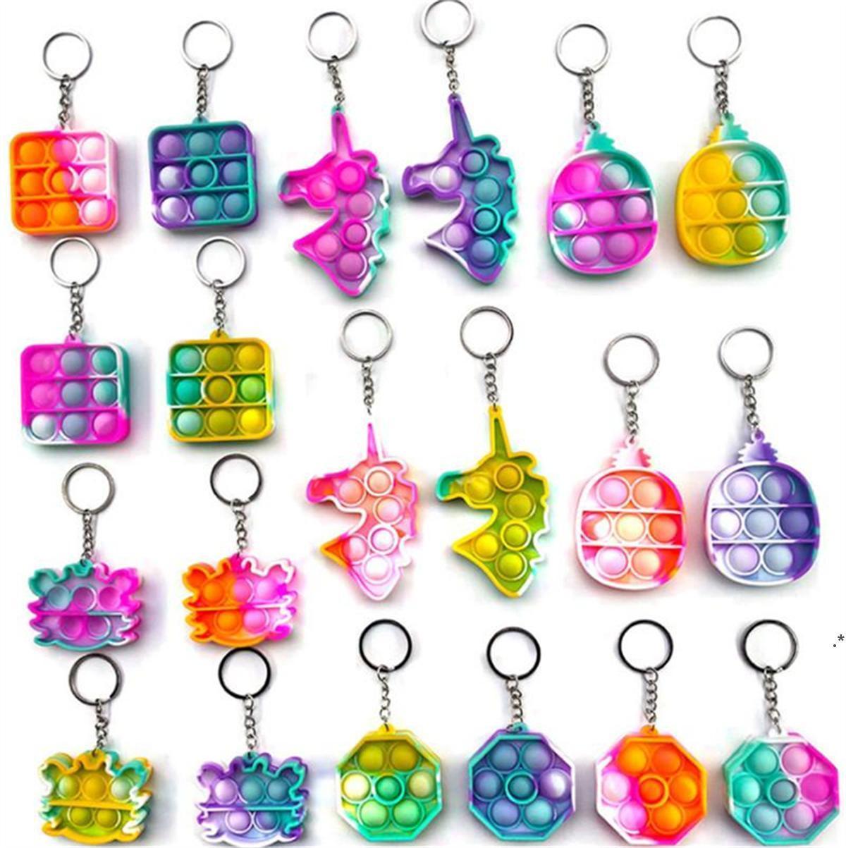 Горящая флуоресценция толчок пузырьки для рельефа для взрослых игрушка антистрессовая мягкая скважина подарок против стресса детская игрушка