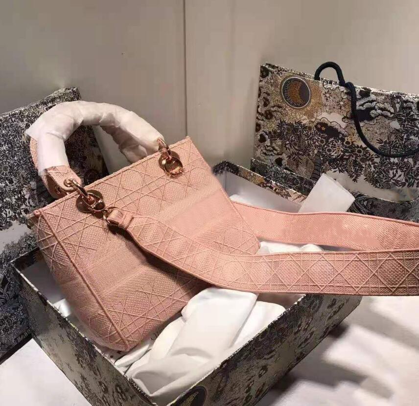 Designer di Lussurys Borse Lady Check Ricamo Borsa da principessa Borse a tracolla di moda Borse Designer Ultime totes multicolore con scatola