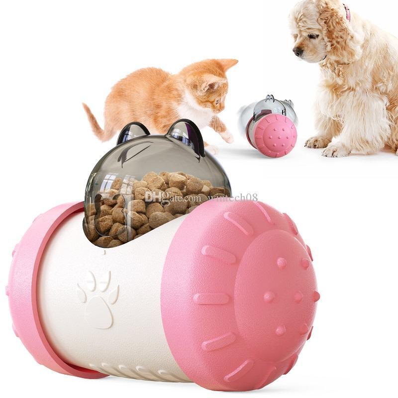 애완 동물 느린 피더 곰 모양의 장난감 개 고양이 텀블러 식품 디스펜서 퍼즐 대화 형 IQ 훈련 느린 먹는 피더 멀티 컬러