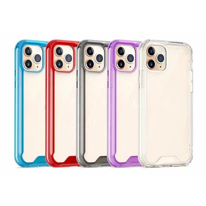 Hibrid Sert Akrilik Yumuşak TPU Anti-Knop Iphone Telefon Kılıfları Temizle Geri Tampon Çerçeve Kılıf iphone 11 Pro Max Için iPhone 7 8 XS Max XR