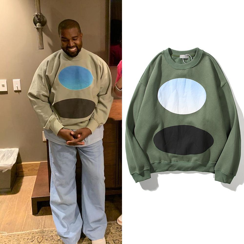Streetwear Kanye Weat Jerseys Vintage suelta Sudaderas Casuales para hombre Hip Hop Kendall Jenner Sudaderas con capucha Sudaderas PLUS VELVET C0228