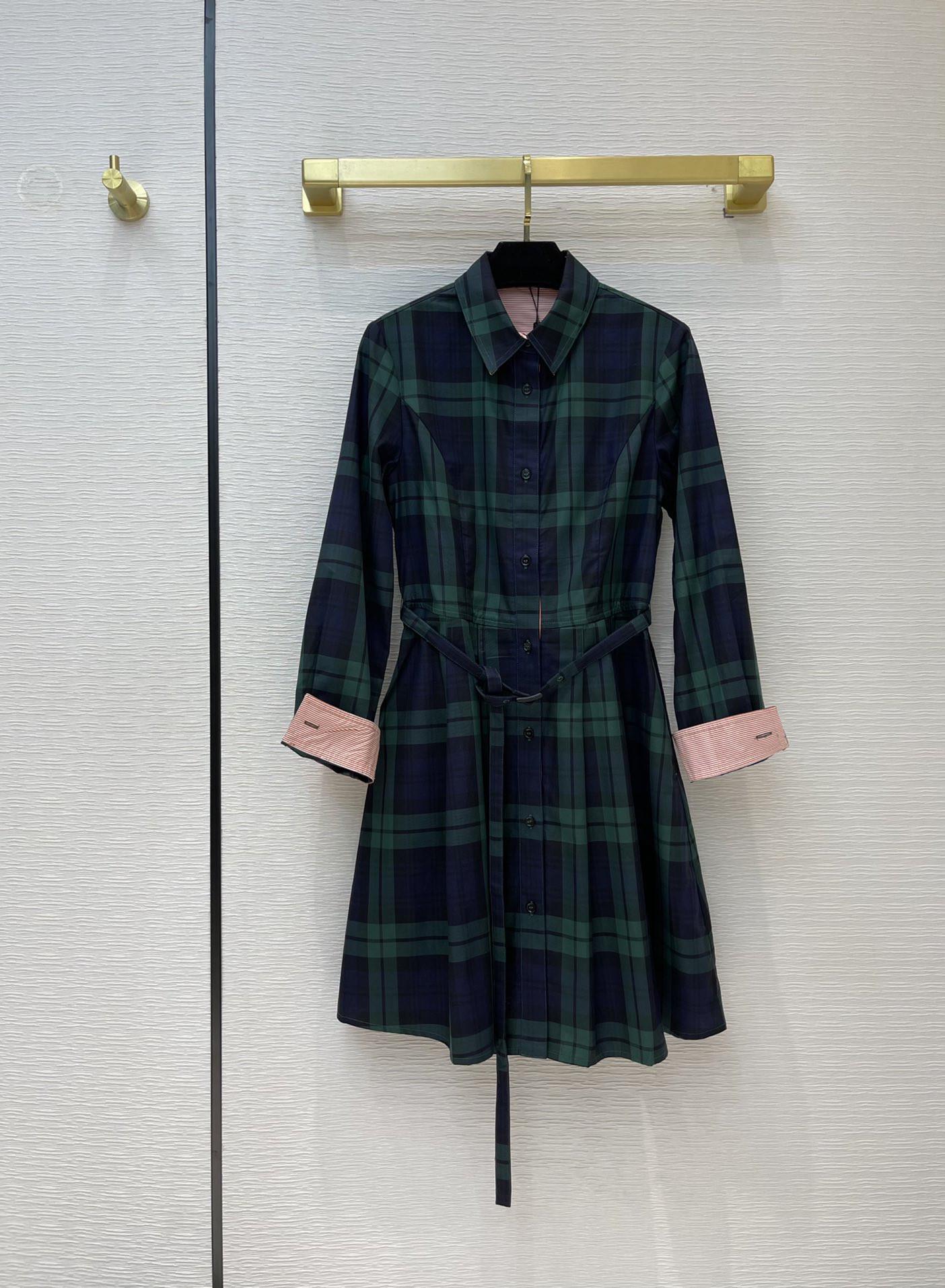 Milan Pisti Elbise 2021 Yaka Boyun Uzun Kollu Panelli Tasarımcı Elbise Marka Aynı Stil Elbise 0316-6
