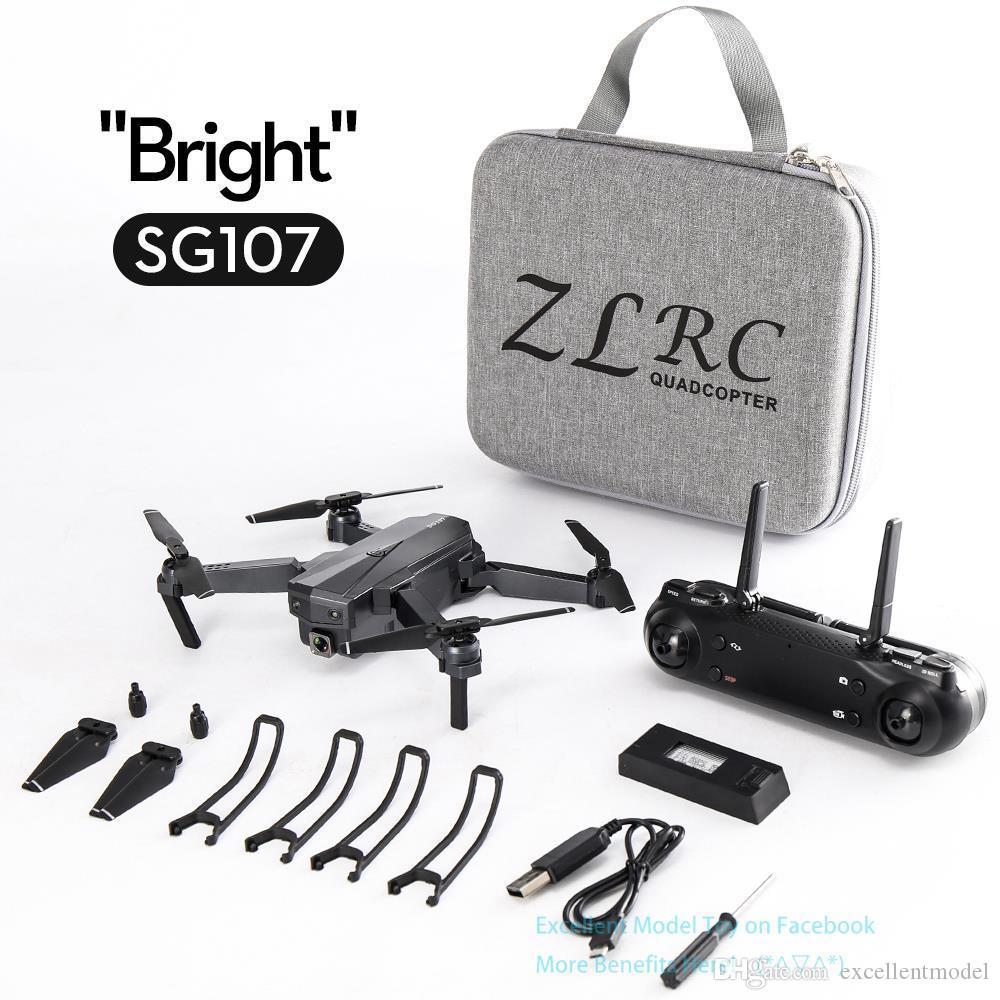 SG107 4K كاميرا مزدوجة wifi fpv المبتدئين الطائرات بدون طيار لعبة، وضع التدفق البصري، الارتفاع عقد، ذكي متابعة، لفتة التقاط الصورة، 2-3
