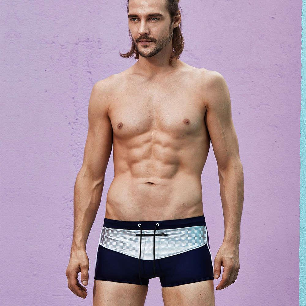 Superbody Men's Plat Angle Sexy Fashion Fermeture à glissière basse Taille Maillots de bain à ressort chaud Maillot de bain