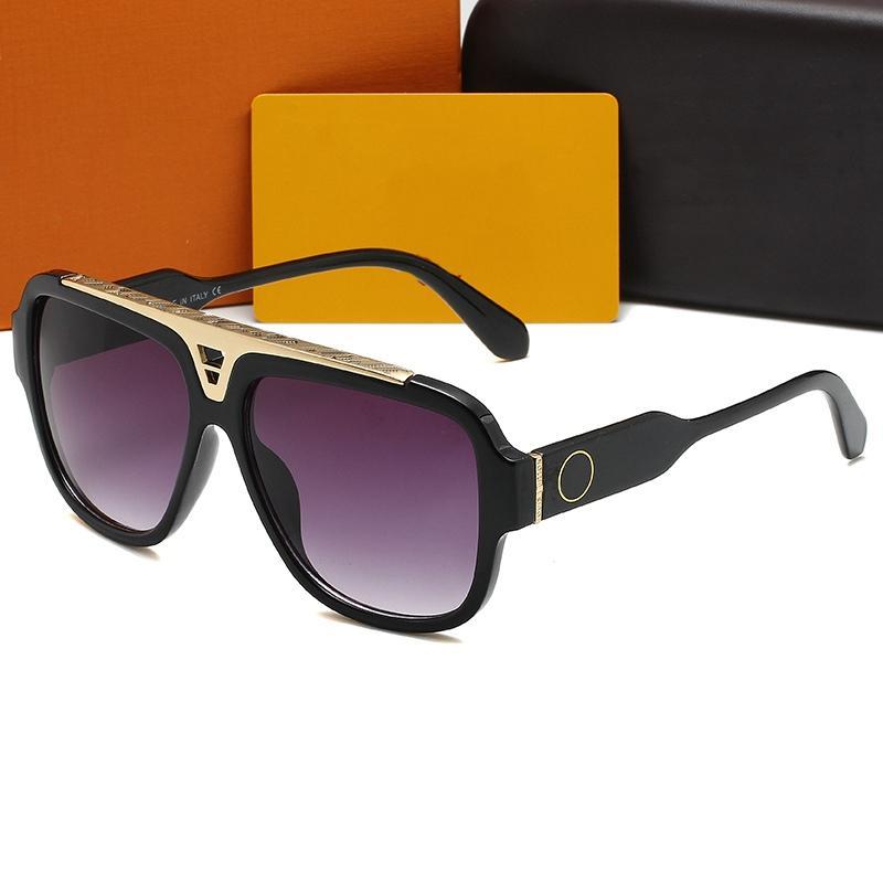 최신 판매 인기있는 패션 남성 여성 디자이너들 Luxurys 선글라스 스퀘어 플레이트 금속 조합 프레임 최고 품질 UV400 렌즈