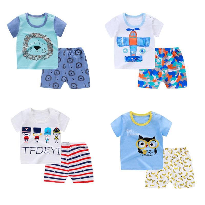 Ensembles d'été Baby Cato Boys T-shirt Top T-shirt + Broek Outfits Enfants Vêtements Enfants Tissu