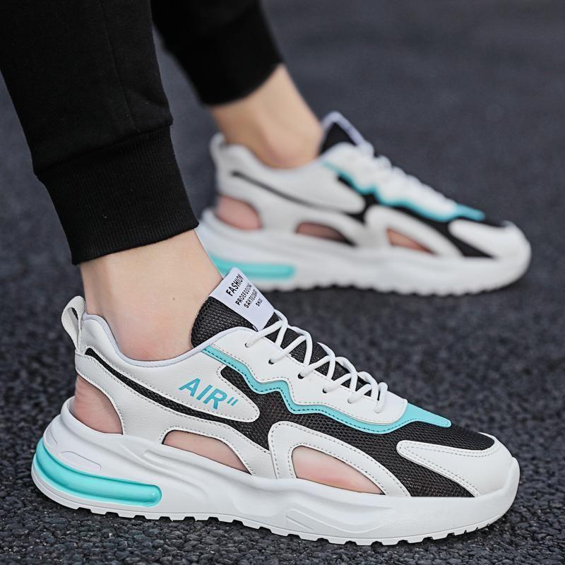 2021 Yaz erkek Koşu Ayakkabıları Sandalet Spor Plaj Terlik Casual Giyim Baotou Delik Ayakkabı Erkekler Boyutu 39-44
