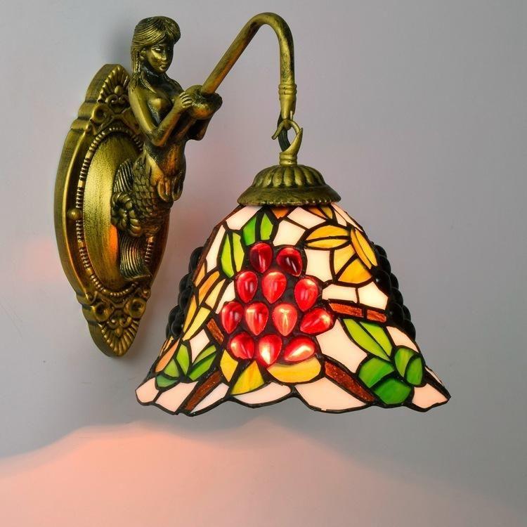 Giardino francese Tiffany VETRO VETRO DECORATIVA Lampada da parete Decorativa Bar KTV Club Hotel Corridoi Beauty Lamp