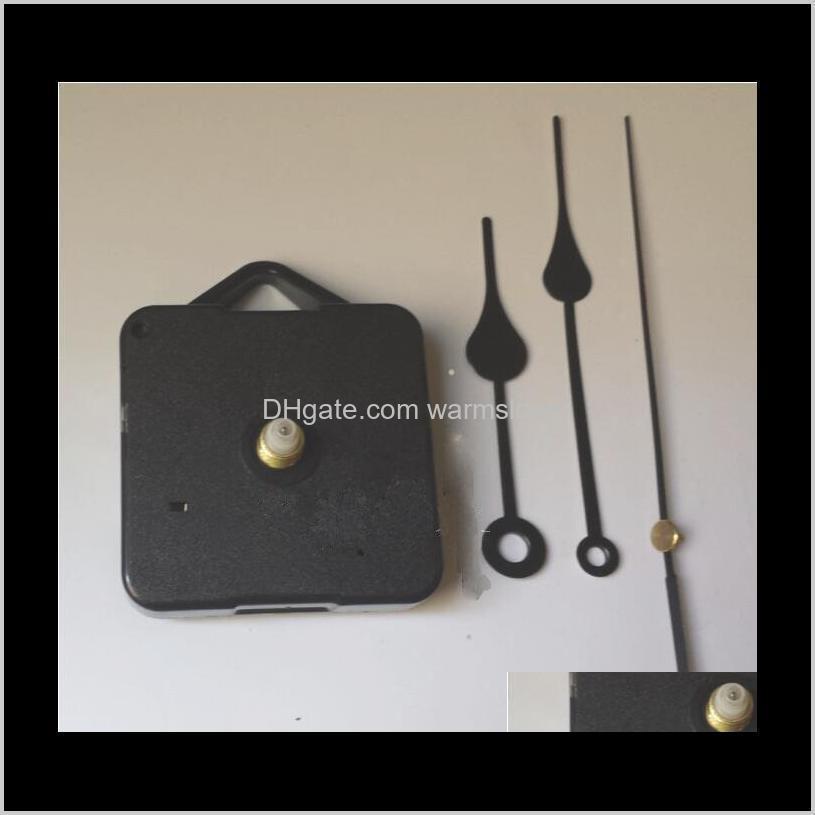 Relojes para el hogar Kit de movimiento de reloj de cuarzo DIY Accesorios de reloj de reloj negro Reparación de mecanismos de husillo con juegos de mano Longitud del eje 13 Mejor 6ug8o Phodl
