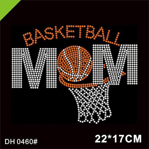 Бесплатная доставка Bling Fancy Реальные мамы баскетбольного горный хрусталь испражнений мотив для HarmentDiy DH0460 #